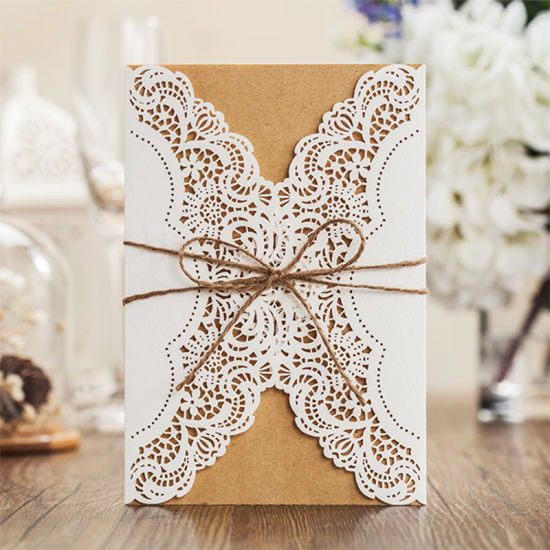 Laser Cut Lace Wedding Invitations West Cowboy Customize Invitation Cards pictures & photos