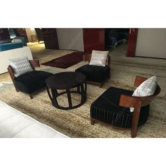 Custom Design High Density Foam Fabric Lounge Chair Sofas For 5 Star Hotel Furniture Sets Sd4004