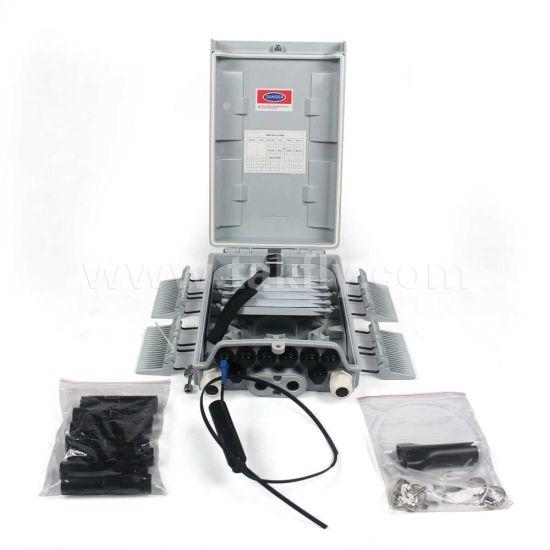8 Ports 2mm/3mm/2X1.6mm Drop Cable Waterproof Fiber Optic Splitter Terminaton Box