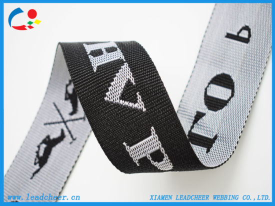 "2"" Wide with Custom Logo Polypropylene Jacquard Bag Webbing"