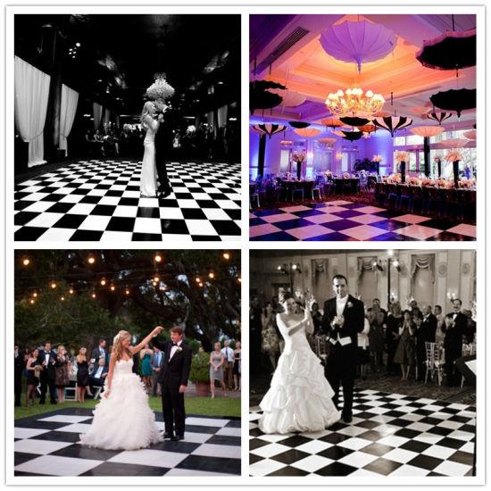 China Polished Shiny Outdoor Wedding Dance Floor Portable Wooden