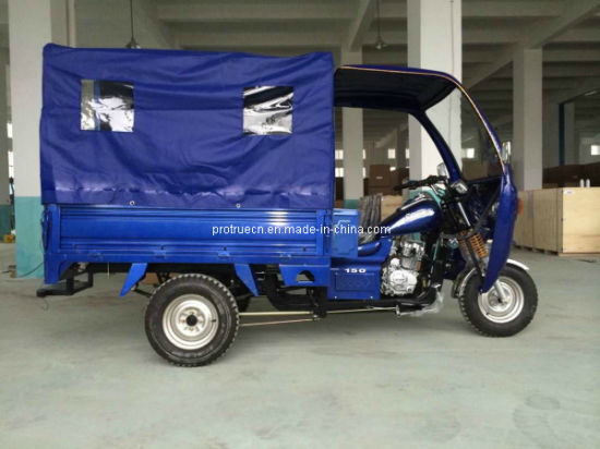 150/200cc 3 Wheel Motorcycle, Cargo Tricycle with Passenger Canvas (TR-16) pictures & photos