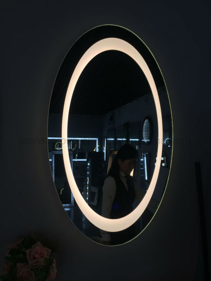 Yashi Ce Oval Illuminated Wall Bathroom Smart TV Mirror