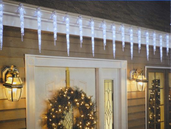 ul listed indoor and outdoor 10 led icicle light