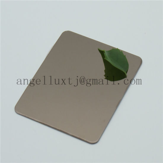 Beautiful No. 8 Super Mirror Finish Silver Color Stainless Steel Sheet Plate for Hotel Decoration pictures & photos