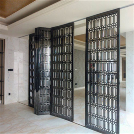Merveilleux Designed Metal Stainless Steel Sliding Doors Interior Room Divider