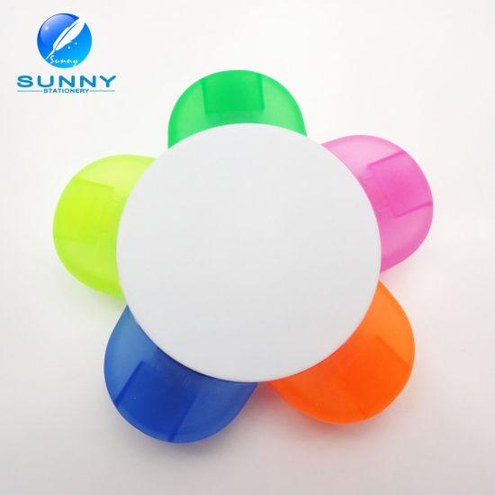 5 in 1 Flower Shape Plastic Highlighter Marker