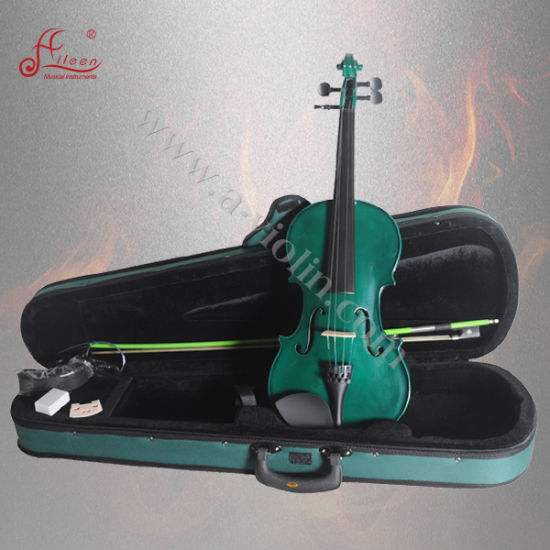Beautiful Colorful Body Student Violin (AVL-15S) pictures & photos