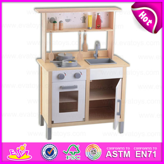 China 2015 Pretend Diy Kids Wooden Toy Kitchen Role Play Wooden Toy