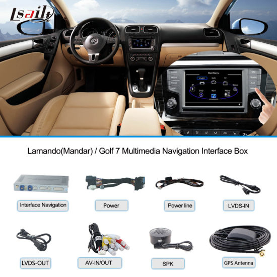 VW Car Multimedia Navigation Interface Box for Golf 7/ Lamandotouch Navigation, USB, HD Video, Audio pictures & photos