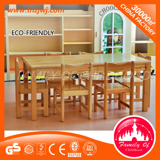Top Solid Wood Dining Table Kids Long Table for Nursery pictures & photos