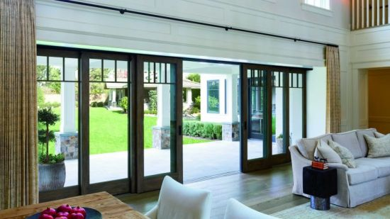 China Direct Sale Aluminium Sliding Patio Door With Insect Screen By