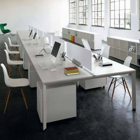 Modern White Open Office Desk Workstation Furniture Sz Wst613