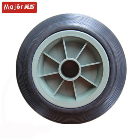 6X2 High Quality Wheelbarrow Solid Rubber Wheel pictures & photos