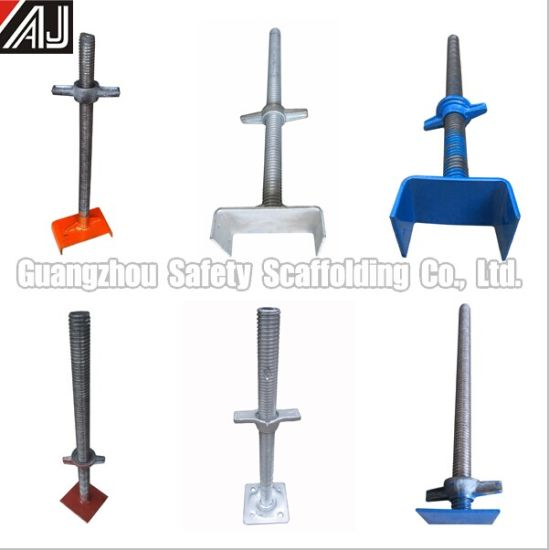 Scaffolding Accessories 600*34mm 700*30mm Frame Scaffolding Jack Base