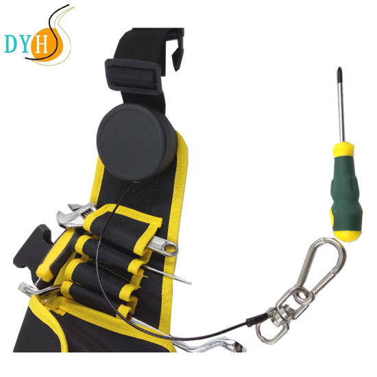 Waist Toolkit Mounted Retractable Tool Lanyards Coiled Cord Tether