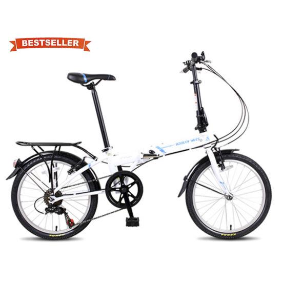 China Hot Sale Cheap Aluminum Alloy 7speed Suspension V Brake Customized Super Light Alloy 20 Inch Folding Bike