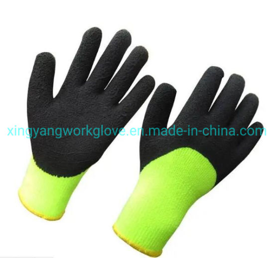 7g Acrylic Napping Liner Latex Foam Coated Thermal Soft Winter Work Safety Protective Warm Glove