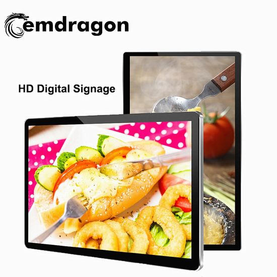 21.5 Inch Wall Mount Digital Signage Infrared Ad Video Screen Quality USB Media CF/SD Card Advertising Player Advertising Promotion LCD Digital Signage