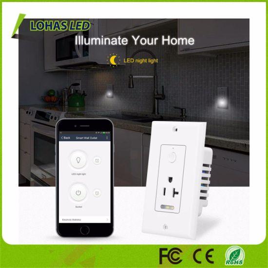 Alexa Voice Control Wall Outlet WiFi Socket Tuya Smart Plug