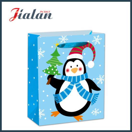 BSCI Christmas Gift Packing Shopping Carrier Paper Gift Bags