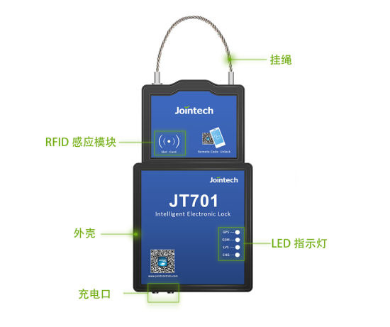 China Asset Real-Time Tracking GPS E-Lock Container Padlock Jt701