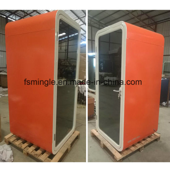 Galvanized Steel Soundproof Single Seater Office Phone Booth for Sale
