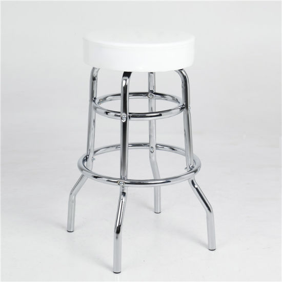 Excellent Wholesale Pu Cover Bar Chair Stools White Two Ring Cheap Metal Bar Stool Beatyapartments Chair Design Images Beatyapartmentscom