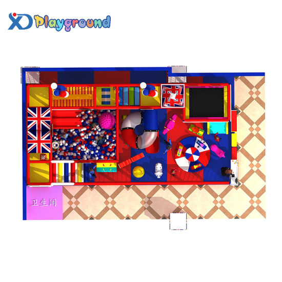 Customized Kids Soft Commercial Indoor Playground with Ball Pool