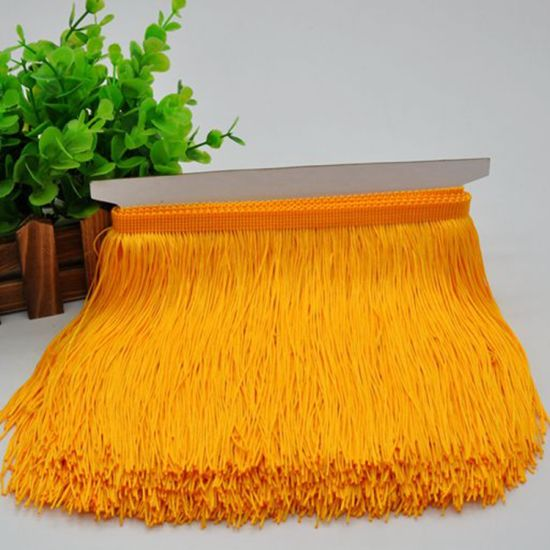 Wholesale High Quality More Colors 15cm Polyester Silk Fringe Lace for Dresses