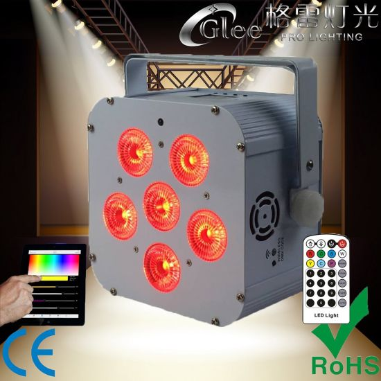 6 18w Rgbwauv 6in1 Led Battery Wireless Wifi Dmx Par Pictures Photos