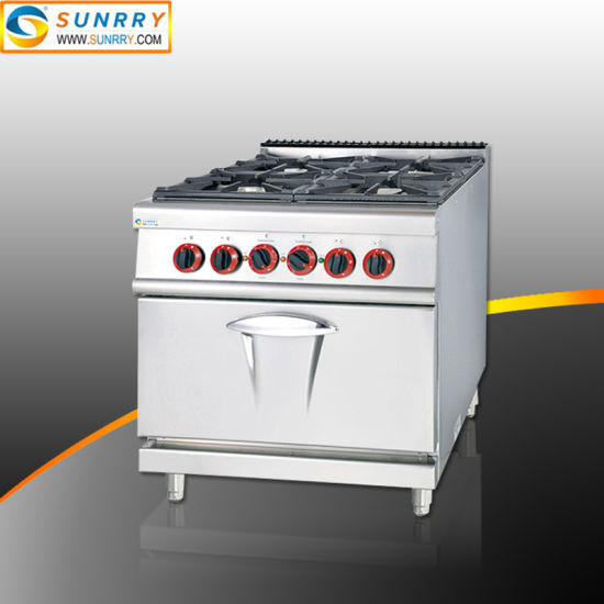 Stove Cooker with 4-Burner and Electric Oven Gas Cooker Stove