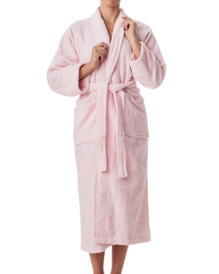 Custom Made Hotel Bathrobe Unisex Cotton Terry Bathrobe