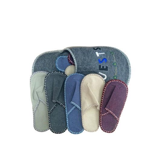 bb7ed929430b1 China Women' S Slippers 7.5-8 Grey Felted Wool Slip on Shoes Unworn ...