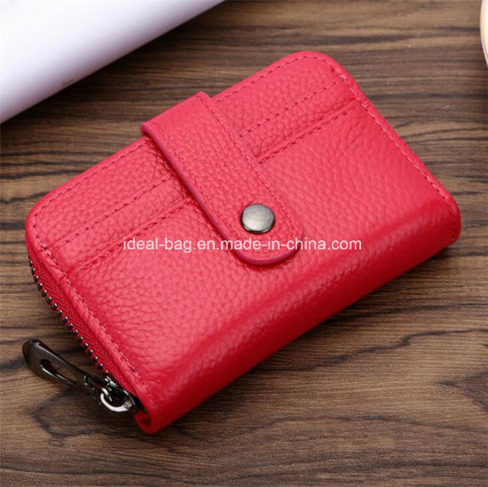 d003b18325106 China Fashion Genuine Leather 12 Card Slots Holder Lady Wallet