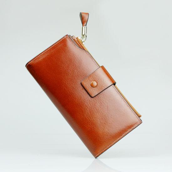 Women Genuine Leather Purse Designer Fashion Clutch Travel Wallet