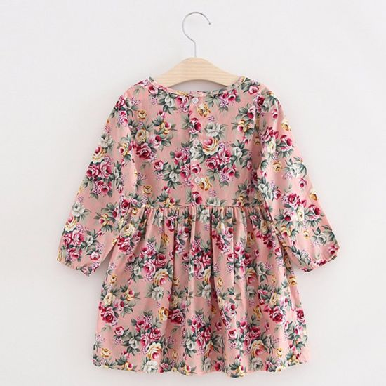 2018 New Kids Flowers Dress Fashion Baby Girl Party Dresses