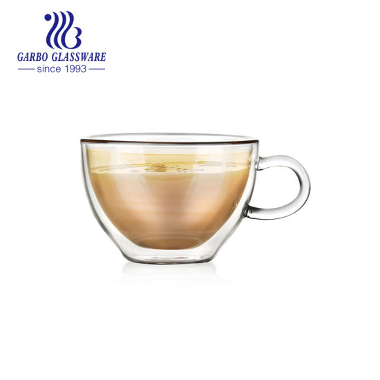 China 7 Oz 200 Ml Borosilicate Double Wall Glass Coffee Tea