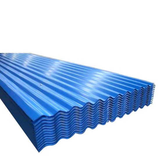 Warehouse Bwg34 Bushan Brand Color Coated Corrugated Galvanized Steel Roofing Sheet
