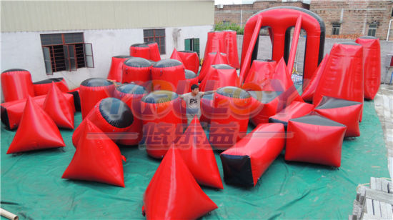44 Pieces Red & Black Air Tight Inflatable Laser Tag Obstacles Inflatable Paintball Bunker for Shooting Game pictures & photos