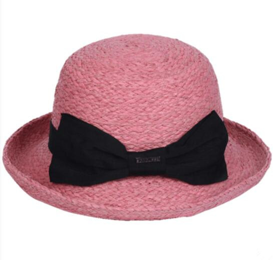 Fashion Summer Fedora Lady Straw Bucket Hat pictures & photos