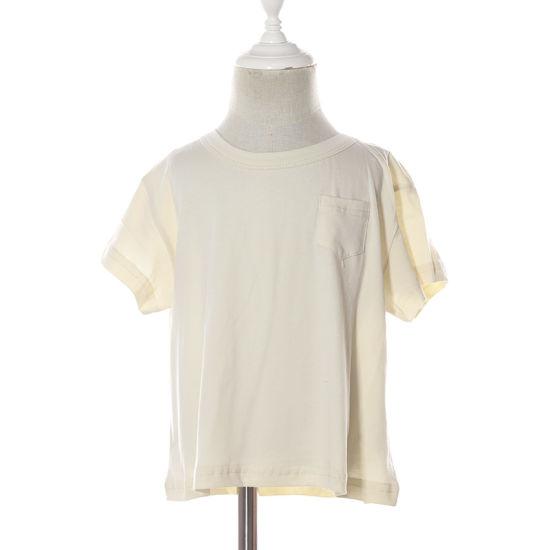 Short Sleeves Summer Cotton Pocket Kids Printed T-Shirt
