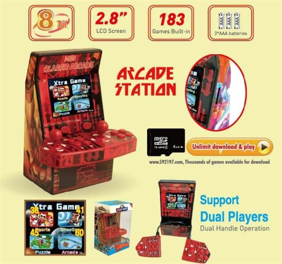 Bl-881 2.8 Inches Two Players Mini Arcade Game Station