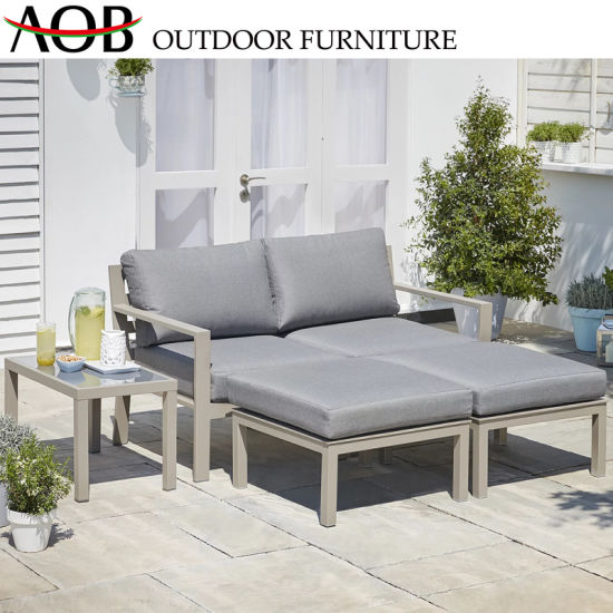 Sofa Back Wall Design, Chinese Modern Outdoor Garden Hotel Home Patio Furniture Lounge Chair Aluminium Daybed Reclining Chair Sunbed China Garden Furniture Chinese Furniture