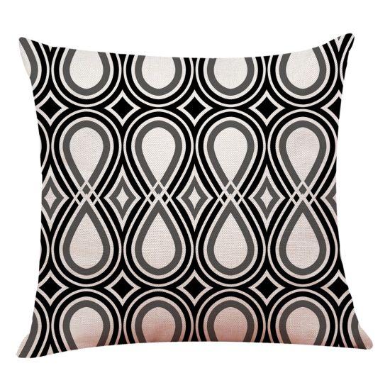 Modern Black And White Geometric Print