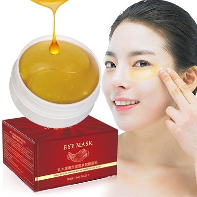Gold Collagen Eye Mask Shea Butter Moisturizing and Tightening Eye Mask Anti-Wrinkle and Anti-Dark Circles Gel Mask 60PCS