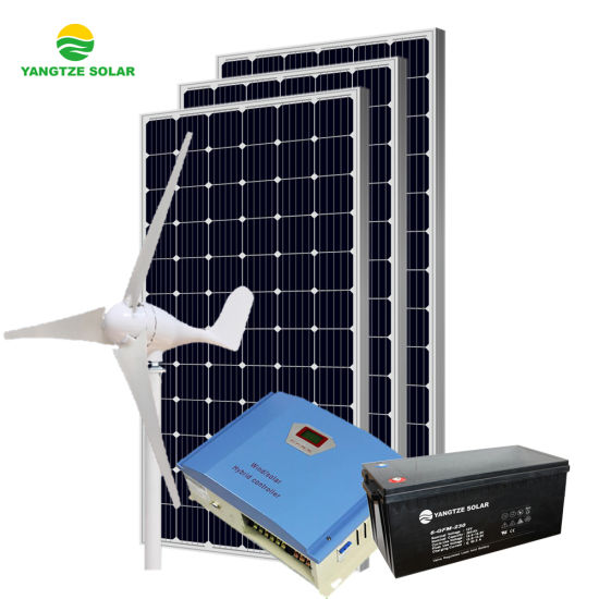 Yangtze 10kw Solar and Wind Hybrid Energy Ground Mounting System for Sale