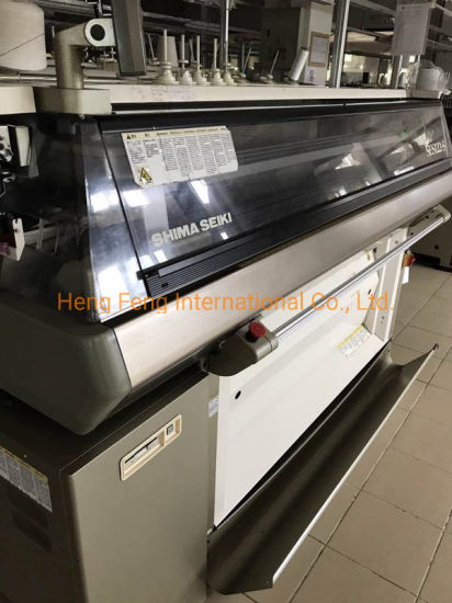 Ses 122s 14G Shima Seiki Used Computerized Flat Knitting Machine for Sale Year 2003 with Top Screen