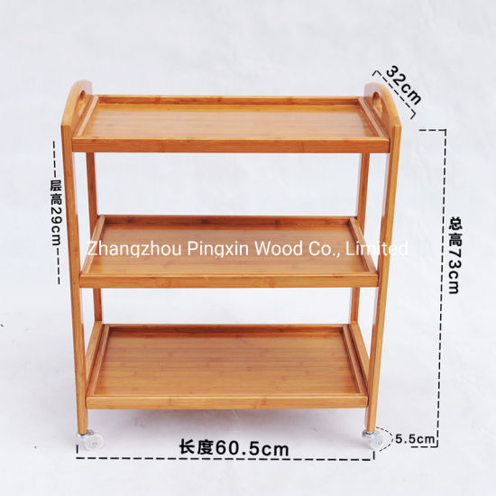 High Quality 3-4layers Bamboo Removable Trolley pictures & photos