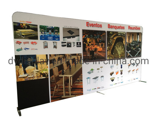 Aluminum Tube Frame Tension Fabric Backdrop Display Pop up Banner Stand